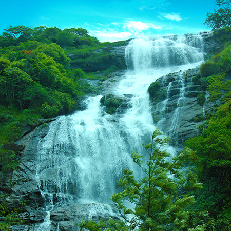 Major attraction in Munnar - Power house watterfalls
